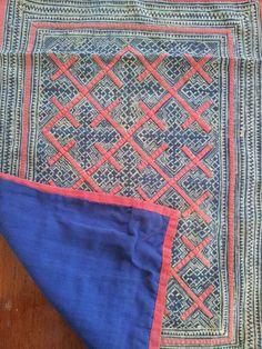 Vintage Handmade Batik Hmong Textile by KutchiKooTribe