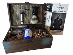 Vintage Shave Kit. 15 Year Wedding Anniversary Gift Ideas for Him, for Husband. Men Gifts for Guys.