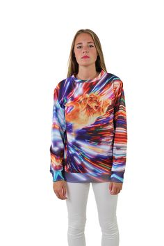 Cat Vortex Sweatshirt by Beloved Shirts-is it weird I would consider wearing this?