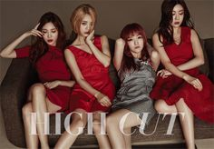 """In a new pictorial for High Cut magazine, the ladies of Girl's Day undergo a hair color color makeover. Under the concept of """"Girl's Color,"""" the members sp Kpop Girl Groups, Korean Girl Groups, Kpop Girls, Boy Groups, Girl Day, My Girl, Hyeri, Korean Entertainment, Beauty Magazine"""