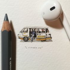 Day 310 : This is what a taxi looks like in Cape Town.  28 x 12 mm