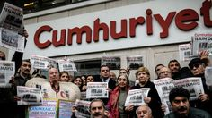 Detained secular Turkish newspaper staff charged with 'terrorism'