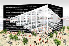 OMA ha vinto il concorso per la progettazione del media center di Axel Springer a Berlino, incarnazione del cambiamento aziendale dalla stampa al digitale e nuovo polo per il campus.