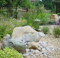 vorgarten mit steinen und gräsern | garten mit kies | pinterest, Best garten ideen