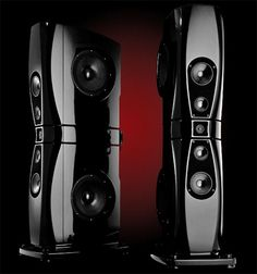 Rockport's flagship speaker is dubbed Arrakis. Standing almost seven feet tall and weighing 900 pounds, this monster includes two 15-inch side-firing, carbon-fiber composite woofers, two 8-inch composite midbass drivers, two 5.25-inch composite midranges, and one 1-inch ring-radiator tweeter, yielding a total frequency response from 20Hz to 40kHz (-3dB). The internal wiring is supplied by Transparent Audio. How much, you ask? $165,000/pair. - Sound and Vision