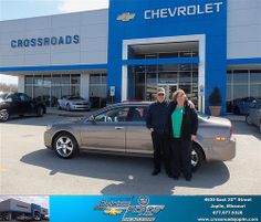 #HappyAnniversary to Jackie Smith on your 2012 #Chevrolet #Malibu from Tab Bluejacket  at Crossroads Chevrolet Cadillac!