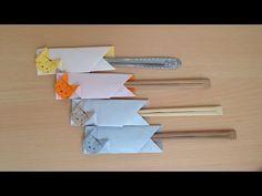 折り紙 ウサギの箸袋(箸入れ) 簡単な折り方(niceno1)Origami BunnyRabbit Chopsticks holder - YouTube