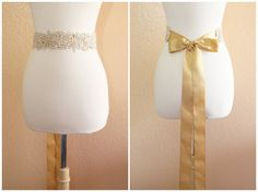 Light Gold Embroidery with Pearl Beading Lace by lovelikestyle, $27.00