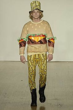 Fashion Fail: Burger and Fries Outfit , Bad Fashion, Fashion Fail, Funny Fashion, Quirky Fashion, High Fashion, Ugly Outfits, Crazy Outfits, New Outfits, Fashion Outfits
