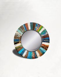 Boatwood round mirror