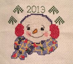 Frosty  - pattern from the 2013 CHRISTMAS - Just Cross Stitch Issue.