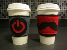 Great tutorial on how to make easy, versatile felt coffee cozies.