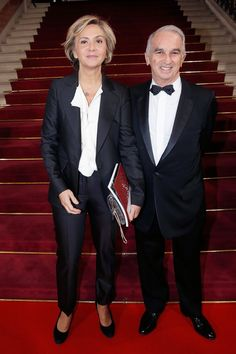 Pin for Later: Les Plus Grands du Cinéma Français Se Sont Rejoints Pour la Cérémonie des César Valerie Pecresse et Alain Terzian, président de l'Académie