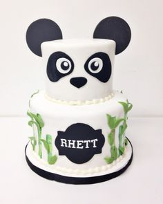 Panda and Bamboo Cake-- from a bakery in Nashville