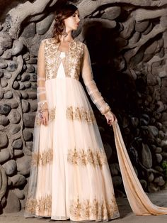 Designer net Party Wear Anarkali Salwar Suit
