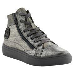 Pataugas FW16 Femme - Sneakers YOANNA en cuir métallisé argent - A shopper ici >> http://www.pataugas.com/yoanna-ms-f4b-sneakers-cuir-metallise/#article=25987