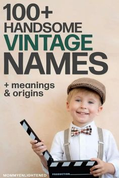 vintage boy A list of unique vintage names for boys that include meanings and origins. If youre hoping to choose a vintage name for your new baby boy, here is a list of all of our favorite unique vintage boy names - including meanings and origins! Baby Boy Name List, Unique Baby Boy Names, Modern Baby Names, Unisex Baby Names, Baby Girl Names, Classic Baby Boy Names, Long Boy Names, Boys Names Rare, Names For Boys List
