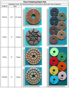 "Floor Polishing Pad 3"", 3.5"" & 4""  made in Korea guarantees consistent high quality. http://www.gobizkorea.com/blog/ProductView.do?blogId=stonetools&id=1026533   Following is our online catalog supported by Korea government;  http://stonetools.gobizkorea.com sales@stonetools.co.kr  http://stonetools.gobizkorea.com https://www.facebook.com/StonePolishingPads http://www.linkedin.com/company/stonetools-korea http://www.stonetools.co.kr https://www.pinterest.com/stonetoolskorea"