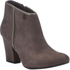 F Patent Trim Ankle Boots ($27) ❤ liked on Polyvore