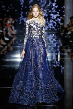 Zuhair Murad Couture Fall/Winter 2015|2016.  WOULD PREFER THIS GOWN TO BE LINED,SO MUCH MORE ELEGANT - CURLEYTOP1.