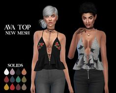 The Sims 4 Mody: Top Ava od Leo Sims
