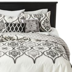 Buying this with my Mother's Day Gift Card From Target....Thanks Mom!!!! Love Target!!!!   Ogee 5 Piece Duvet Cover Set - BlackWhite