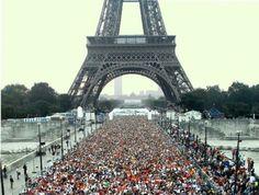 Maratona de Paris e a Torre Eiffel