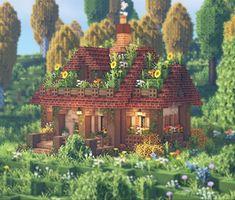 Minecraft House Plans, Minecraft Farm, Minecraft Cottage, Minecraft Castle, Cute Minecraft Houses, Minecraft House Designs, Minecraft Construction, Minecraft Blueprints, Minecraft Creations