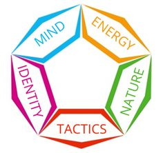 """FIVE PERSONALITY ASPECTS  This section will describe five personality aspects that, when combined, define the personality type: Mind, Energy, Nature, Tactics and Identity. Each of these aspects should be seen as a two-sided continuum, with the """"neutral"""" option placed in the middle."""