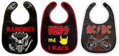 Your baby will make wearing a bib an act of rebellion. | 24 Baby Products Every Music Loving Parent Needs