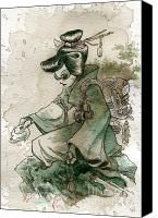 Green Tea steampunk art - I love the mix of Japanese with Steampunk by Brian Kesinger Steampunk Illustration, Fine Art Prints, Canvas Prints, Tea Stains, Sale Poster, Thing 1, Illustrations, Dieselpunk, Fine Art America