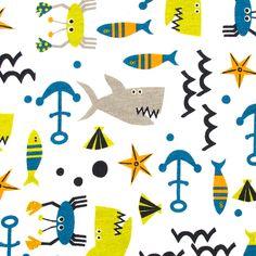 Sea Life, Cotton Spandex Cotton Spandex, Color Schemes, Kids Rugs, Sea, Fabric, Life, Tejido, Kid Friendly Rugs, Colour Schemes