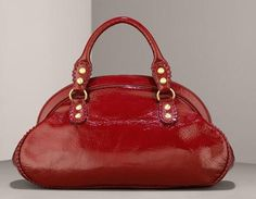 Isabella Fiore Crinkled Patent Satchel, Handbag of the Day