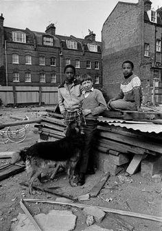 Friends, Brick Lane, East End, London, England, United Kingdom, 1978, photograph by Syd Shelton.