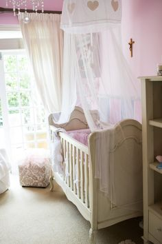 Custom bedroom designed by Baby Belle for Baby Isabella Belle French, Cot, Beautiful Babies, Cribs, Toddler Bed, Nursery, Bedroom, Interior, Baby