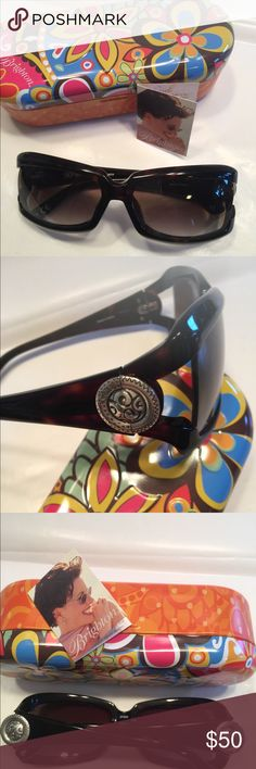 Brighton Sonia's Circle Sunglasses Tortoise finish large frame sunglasses Never worn *Note You see reflection of light—they are not scratched Brighton Accessories Sunglasses