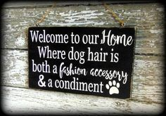 Funny Dog Sign, Pet Lover Gift, Welcome Sign, Custom Wooden Wall Decor #dogdiyprojects #DogCrafts #DogHouseDIY