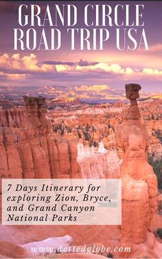 Zion Bryce Grand Canyon National Parks Road Trip - 7 Day Itinerary - Are you planning to drive through Grand Canyon, Antelope Canyon, Bryce Canyon, and Zion National Pa - Perth, Brisbane, Melbourne, Koh Lanta Thailand, Chiang Mai Thailand, Bryce Canyon, Canyon Utah, Cairns, Zion National Park