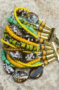 Cuff Bracelet | Island | Tortoise Shell | Yellow | Exotic | XO Gallery | XO Gallery