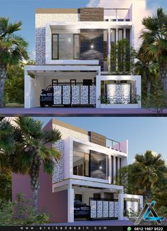 Home Designer, Modern Houses, Home Fashion, Canopy, Townhouse, Fence, 3 D, Exterior, Mansions