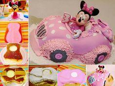 Cute Minnie Mouse Car Cake