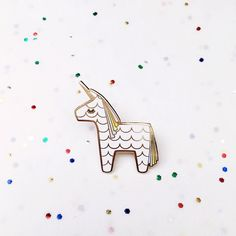 Unicorn Piñata Hard Enamel Cloisonné Lapel Pin