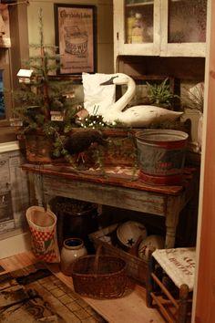 Primitive Homes, Primitive Kitchen, Primitive Antiques, Primitive Crafts, Country Primitive, Primitive Home Decorating, Prim Decor, Country Decor, Rustic Decor