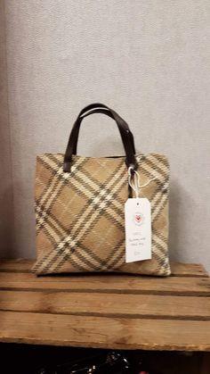 Burberry wool check bag