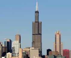 The Sears Tower (now called the Willis Tower) in Chicago was the world's tallest building when it was built in 1973. Today it's the tallest building in North America. Learn more: http://architecture.about.com/od/skyscrapers/ig/World-s-Tallest-Buildings/Sears-Tower-.htm
