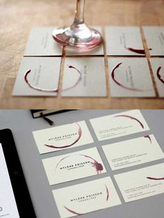 Business card design for a sommelier. Business card design for a sommelier.