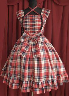 Infanta College Style Gingham Lolita JSK 4 Colors