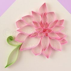 Paper Zen: Quilling Tutorial: Outlined Flowers