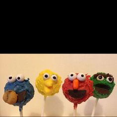 Sesame Street Cake Pops by Betty Lou's Cake Pops!! Yum!!