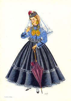 Trajes do Douro Litoral Folk Costume, Costume Dress, Costumes, History Of Portugal, Portuguese Culture, Douro, Cultural, Old Postcards, Traditional Dresses